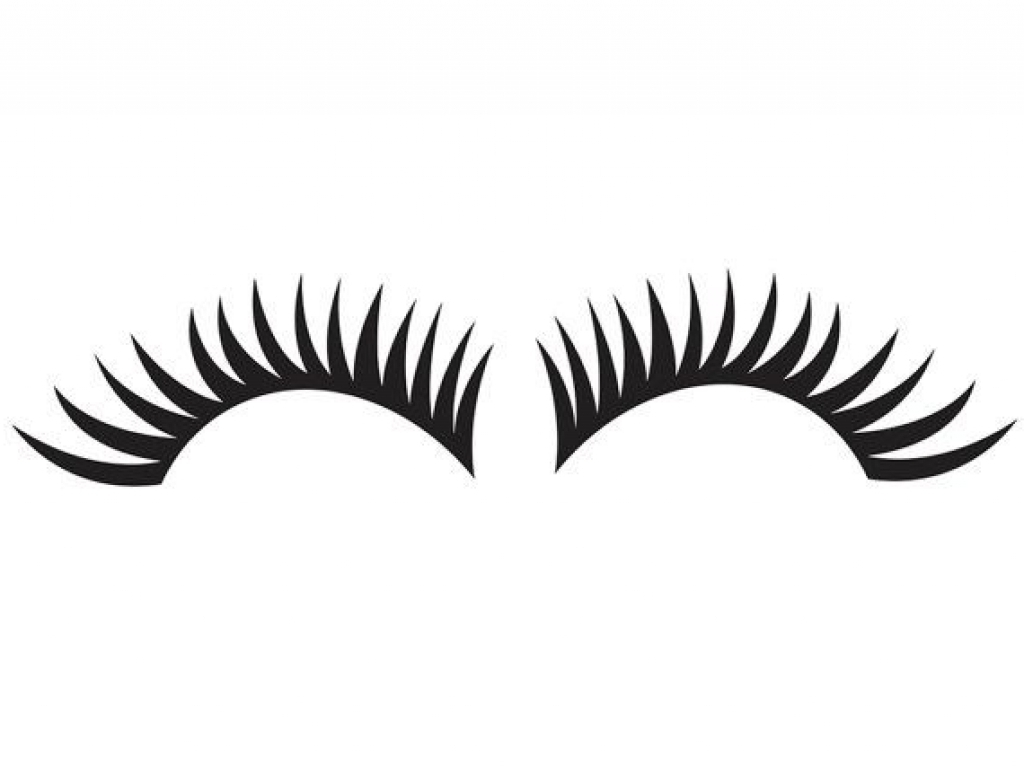 Free eye lash clipart.