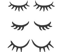 Blinking eyes with lashes clipart.