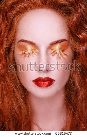 Fake Eyelashes Stock Images, Royalty.
