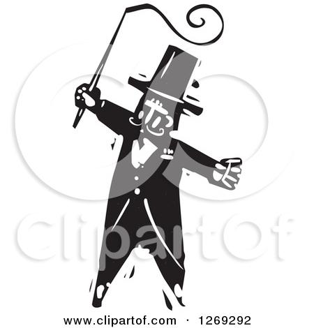 Clipart Illustration of a Hand Whip Lashing, Symbolizing Training.