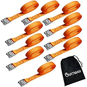 "Amazon.com: Cartman 1"" x 12' Lashing Straps up to 600lbs, 10pk in."