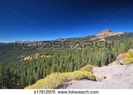 Stock Photography of Lassen Volcanic National Park in California.
