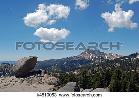 Stock Photo of lassen big rock k4810053.