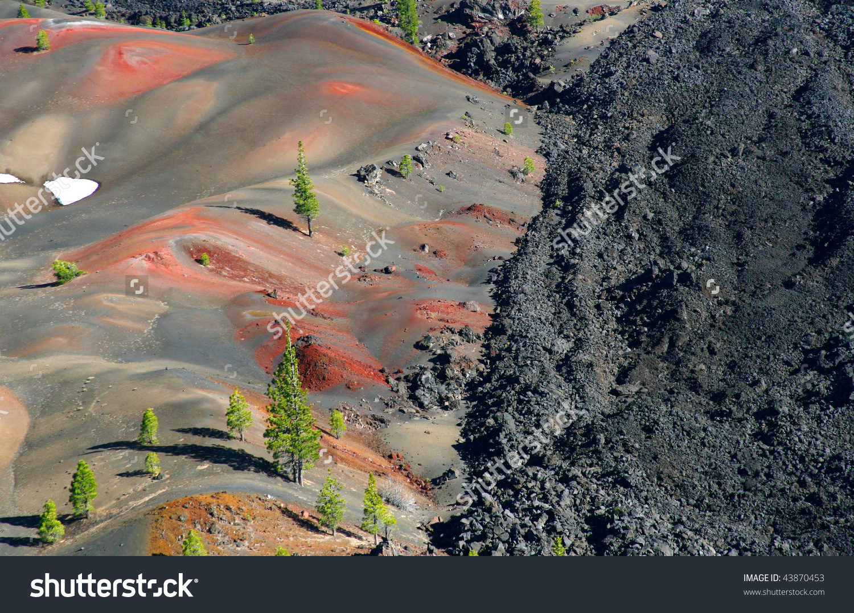 Lassen Volcanic National Park Near Cinder Stock Photo 43870453.
