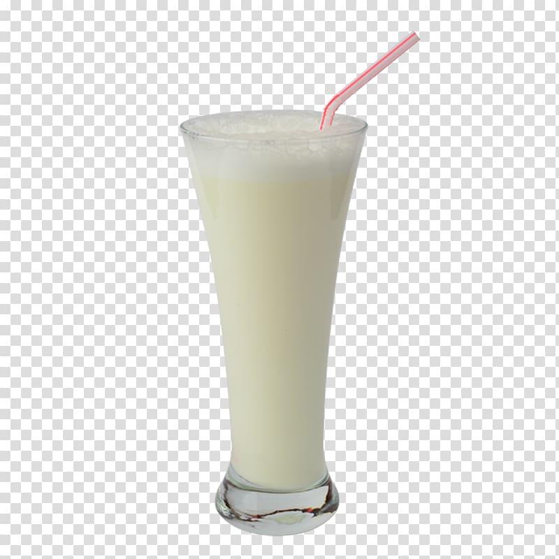 Clear parfait glass, Ice cream Milkshake Smoothie Juice.