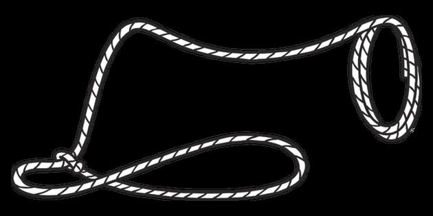Lasso clipart black and white, Lasso black and white.