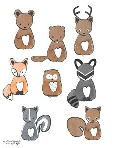 Free Forest Animal Clip Art Graphics (We Lived Happily Ever After.