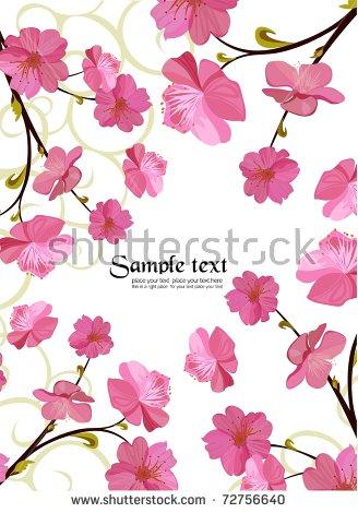 Cherry Blossom Icon Set Stock Vector 240197542.