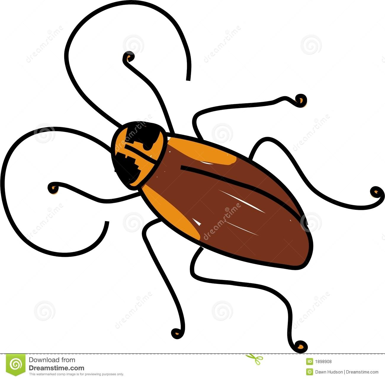 Cute Cockroach Clipart.