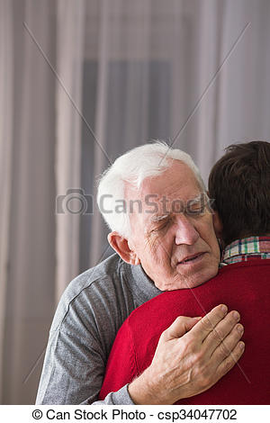 Stock Photography of Father saying last goodbye.