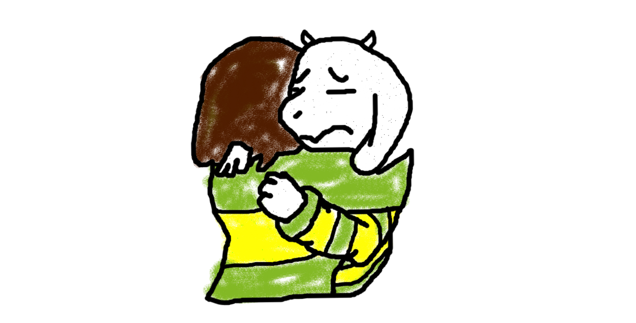 Asriel And Chara's Last Goodbye by unconventionalfanart on DeviantArt.