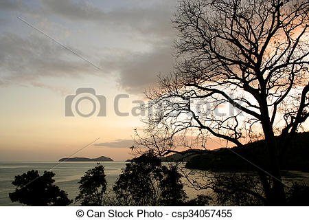 Stock Images of Last light before sunset along the.