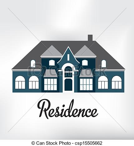Clip Art Vector of Residence Classic.
