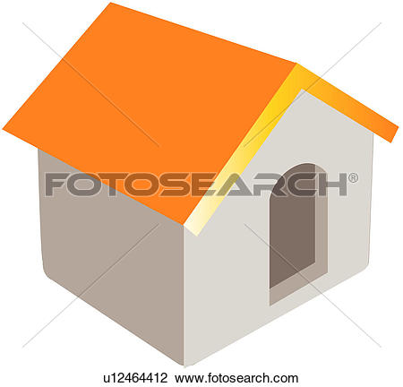 Clipart of logo, residence, place, home, dwelling, icon u12464412.