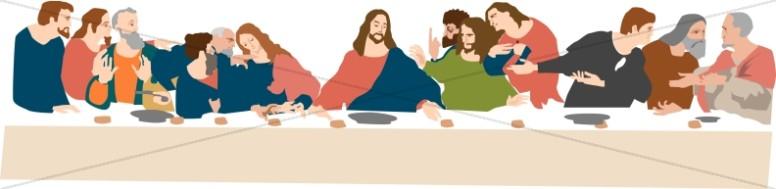 The Last Supper by Da Vinci.