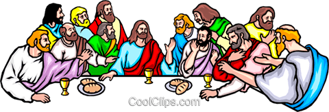 The Last Supper Royalty Free Vector Clip Art illustration.