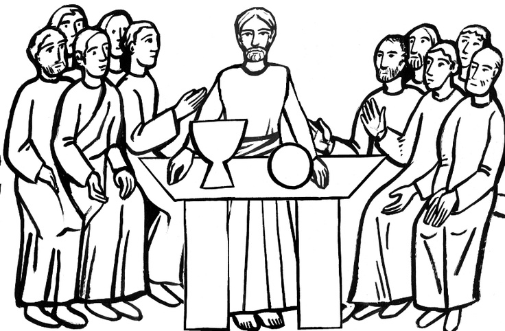 The last supper clipart.