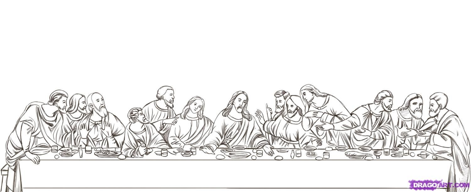 How to Draw The Last Supper, Step by Step, Art, Pop Culture.