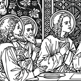 Last Supper clipart.