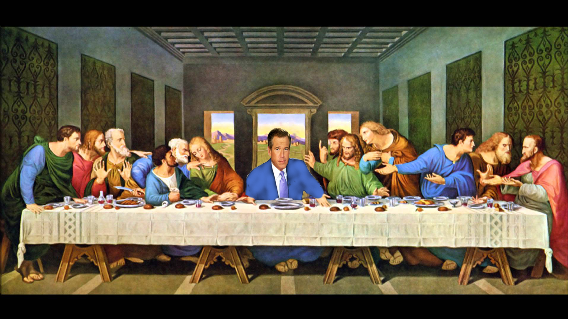 Download Free png Brian Williams was at the Last Supper.