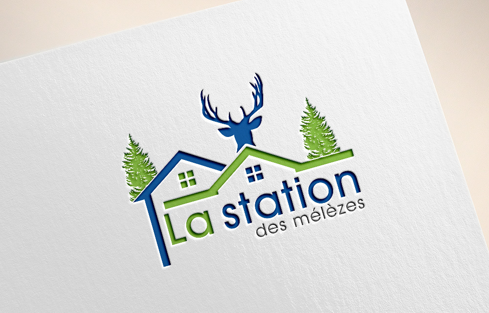 Masculine, Elegant, Rental Logo Design for La station des.