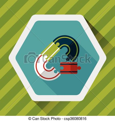 Vector Clip Art of Race Tracks lat icon with long shadow,eps10.