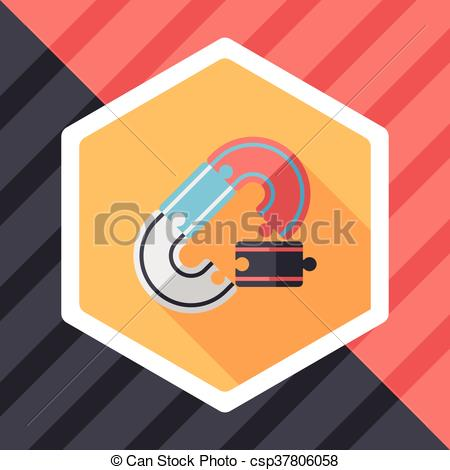 Clipart Vector of Race Tracks lat icon with long shadow,eps10.