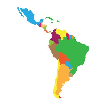 8,252 Latin America Map Stock Vector Illustration And.