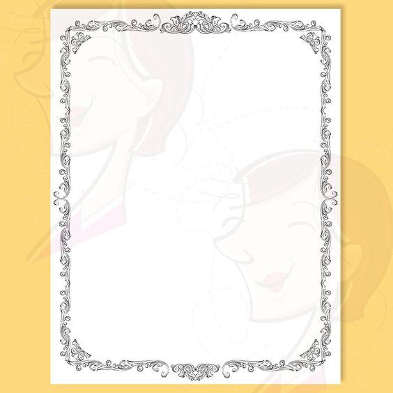8x11 Certificate Border Frames VECTOR Clip Art Vintage Diplomas.