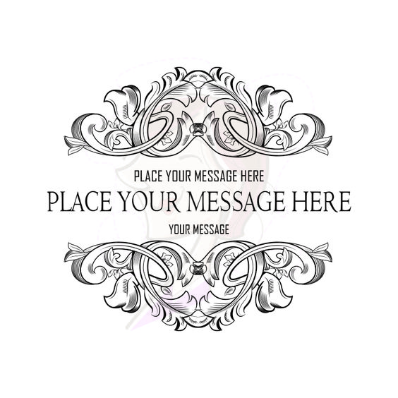 Flourish Border Filigree Graphics Clipart Digital Frame Baroque.