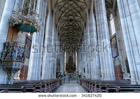 Cathedral Interior Stock Images, Royalty.