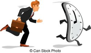 Vector Clip Art of Businessman Late For Work.