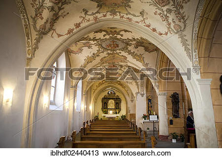"Stock Photo of ""The late Gothic side aisle of the Church of St."