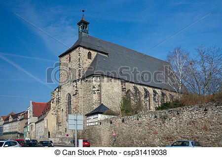 Stock Photos of Moritzkirche, Halle, Germany.
