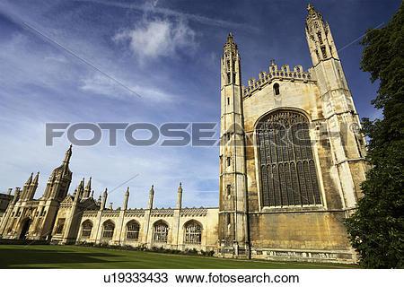 Stock Photo of England, Cambridgeshire, Cambridge, Entrance and.