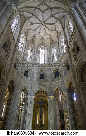 "Picture of ""Interior of the Late Gothic Cathedral of Santo Domingo."