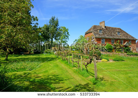 English Garden Stock Photos, Royalty.