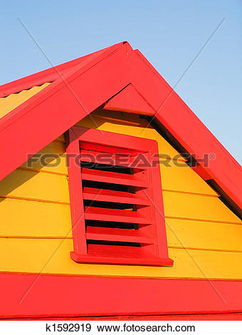Stock Photograph of Bathing Box in late afternoon sun k1592919.