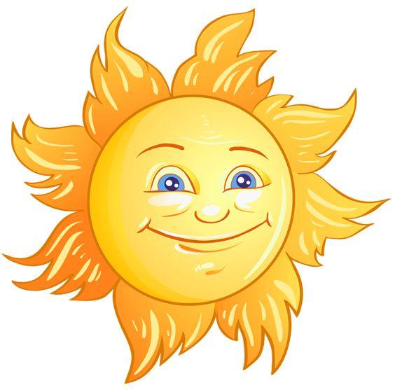 Transparent Deco Sun PNG Clipart Picture.