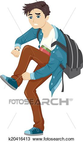 Late for School Clipart.