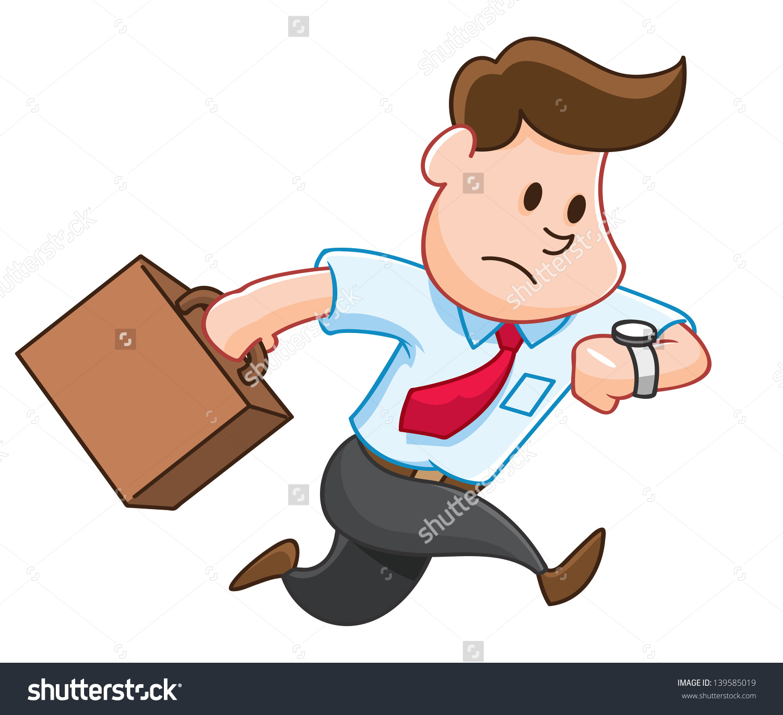 Cartoon Late Work Stock Vector 139585019.