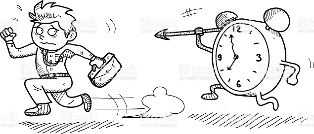 Late For Work stock vector art 491852570.