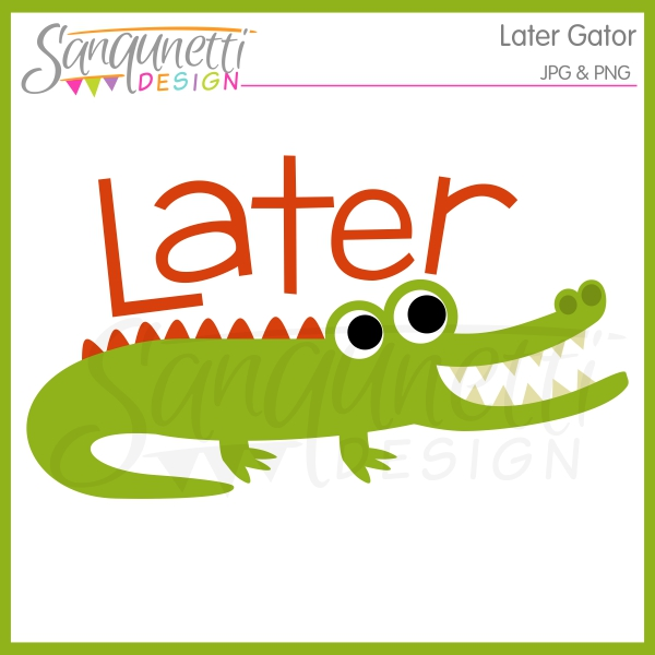 Sanqunetti Design: Later Gator Clipart.