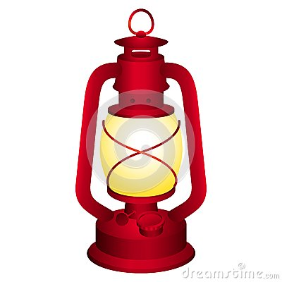 Camping Lantern Royalty Free Stock Photography.