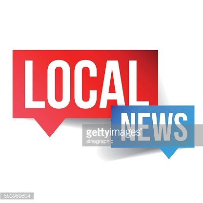 Local News icon vector Clipart Image.