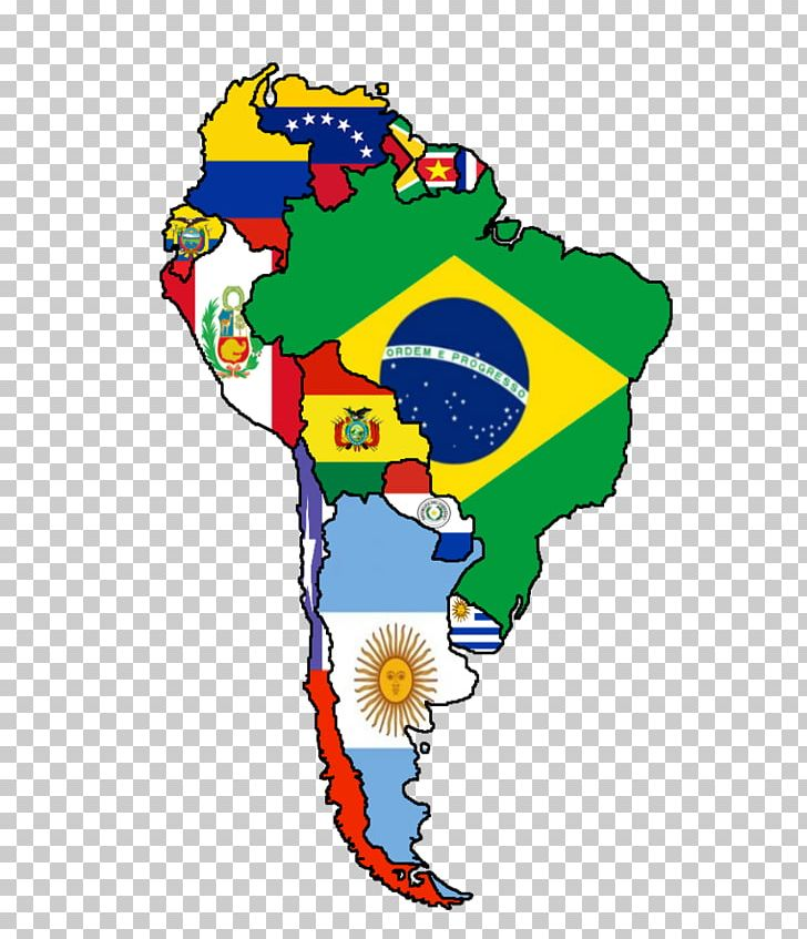 Flags Of South America United States Latin America Map PNG.