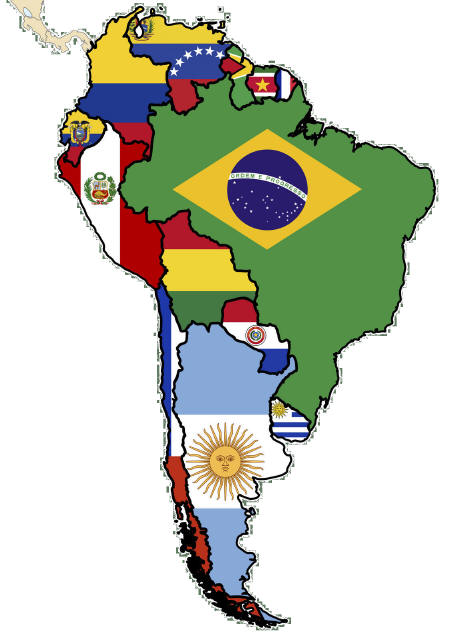 Latin America Map Clipart.