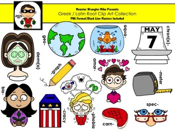 Greek / Latin Roots Clip Art Collection.