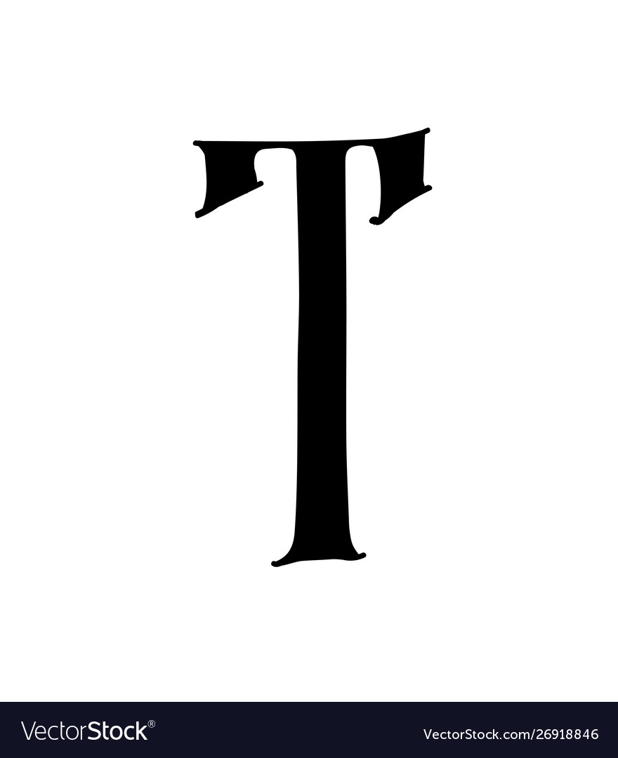 Latin letter t logo for company icon for the.