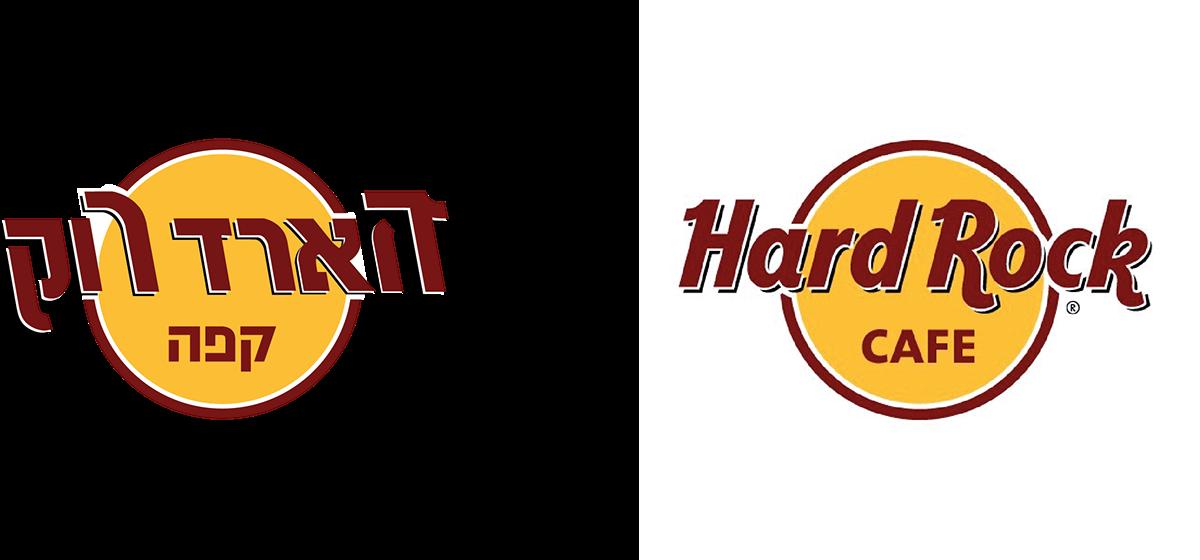 Hebrew version for a Latin brand logo: Hard Rock Cafe on Behance.